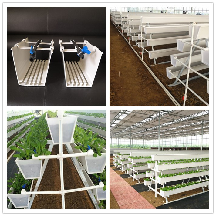Greenhouse cultivation ang hydroponic system PVC plastic growing gutter