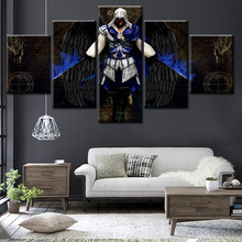 modern famous film figure 5 panel unframed printed painting for decoration