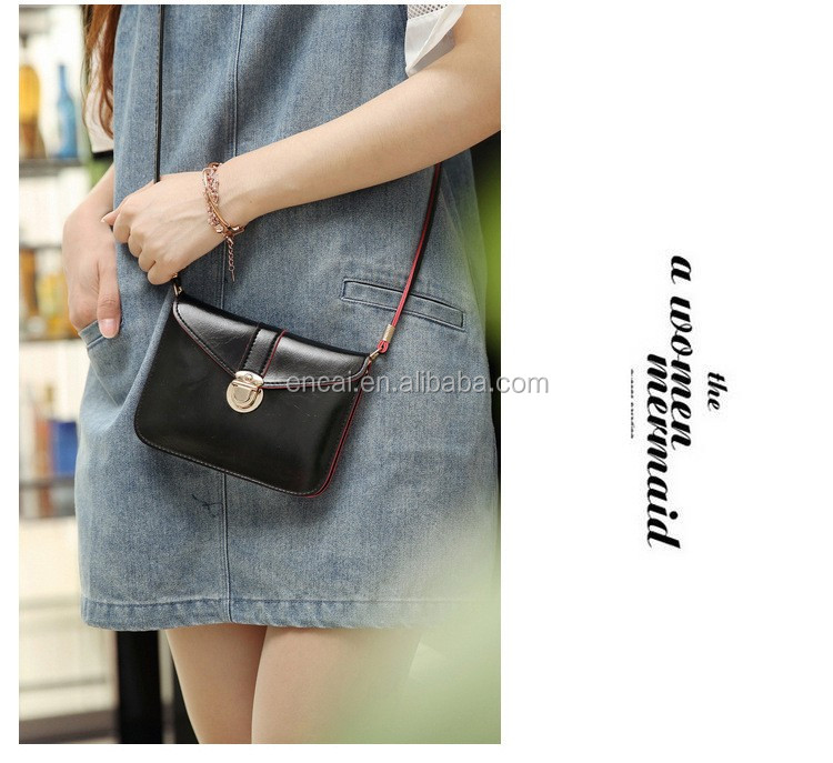 Encai New Style Cheap Women Cellphone Sling Bag Lady Colorful Phone Wallet