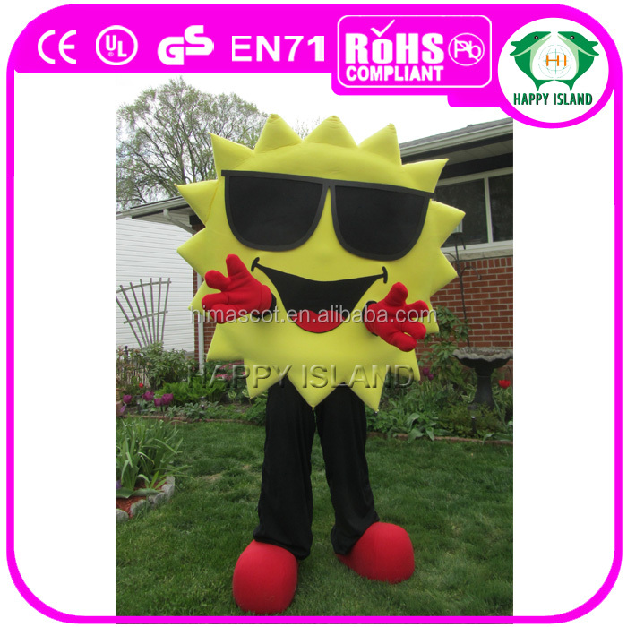 HI CE Popular fur sun doll mascot costume/plush product shape mascot costume
