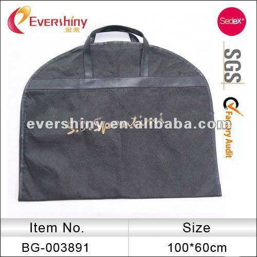 grey zip lock suit bag cloth bag cheap nonwoven garment bag