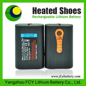 7.4V 2600mAh warming battery smart li-ion battery for heating clothes