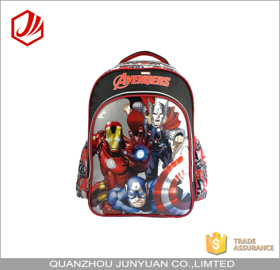 Top Quality Brand Boys PVC Bag Backpack School With Rain Cover