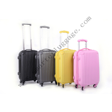 Wholesale colorful lightweight ABS travel luggage set 20''24''28''