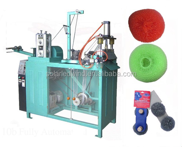 Metal wire cleaning ball making machine/ Kitchen scourer machine