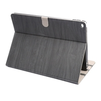 Wood Grain Leather Case for iPad Pro with Holder and Sleep / Wake-up Function