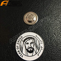 2018 New Design Factory Price UAE year of Zayed magnetic chest lapel pin badge