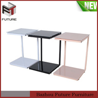 top glass table coffee table iron side table