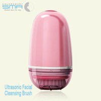 New Adult Cheap Battery Powered Mini Super Sonic Vibrating Facial Cleaning Brush With Waterproof For Exfoliating And Massage