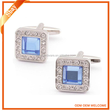 Fashion crystal swank cufflinks for mens shirts