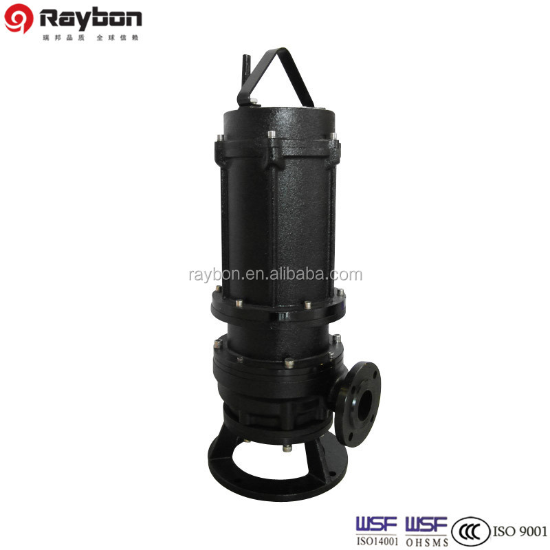 Wq Cast Iron Vertical Inline Submersible Sewage Pump Ss304 Sewage Pump