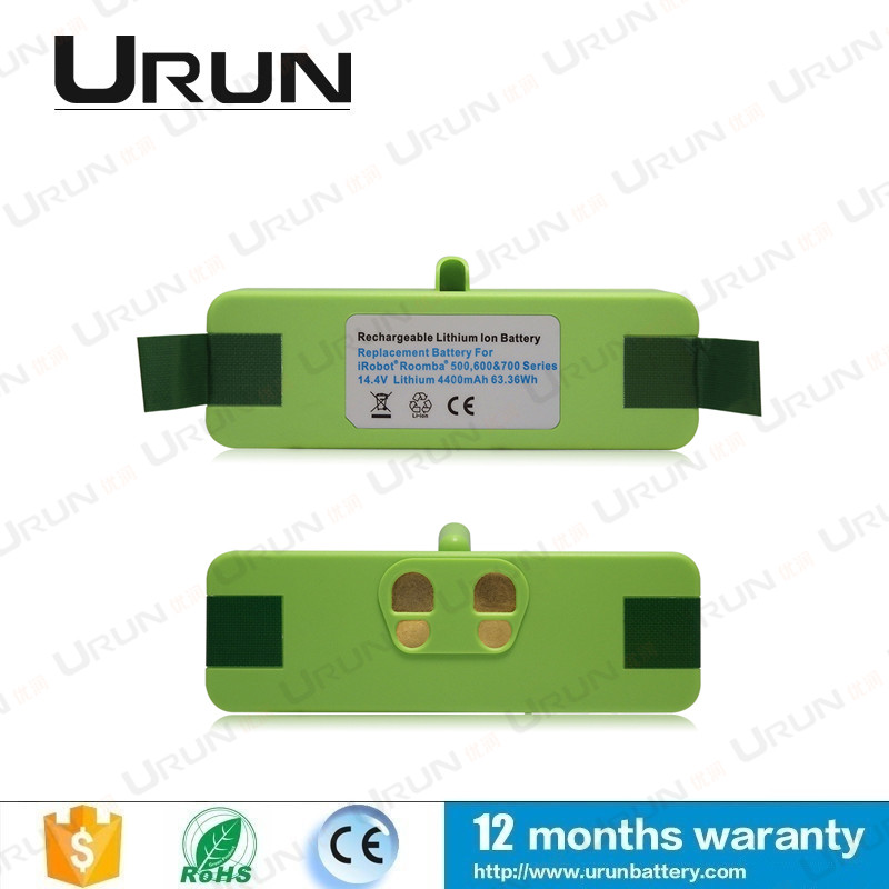 14.8V 4400mAh Li-ion Replacement Battery Pack for Roomba 500 600 700 800 900 series