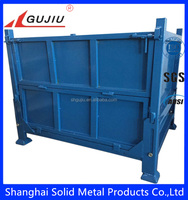 Heavy duty foldable metal container for storage usage