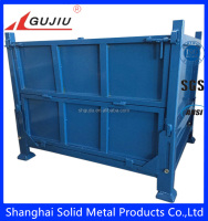 Heavy duty foldable steel crate for storage usage