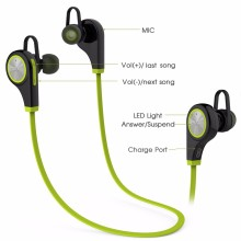 Hot Q9 sports bluetooth earphones,music smart headphones,stereo waterproof headphones