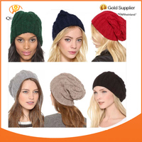 Women Chunky Knitted Thick Colorful Ski Cute Fashion Winter Beanie Hats