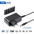 EU standard 5-24V 36W 5525mm Wall Mount Charger for Router, Moniter, Scanner,Speaker