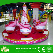 Kids Amusement Rides Indoor Park Equipment Coffee Cup Rotary Game