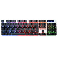 New High Quality spill proof multimedia back 7 Colors keyboard KBL-003