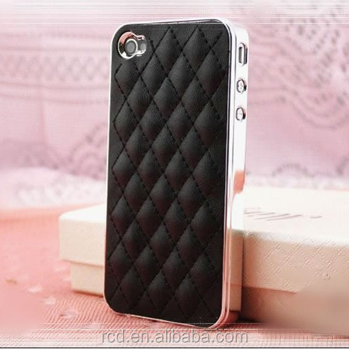 Grid Leather Cases For iPhone 4S 4 Soft Back Covers For iPhone 4S 4 Lattice Back Cases For iPhone 4S 4 ac259
