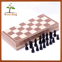Yiwu China Factory Suppliers Wholesale Educational Puzzle Game Cheap Hand Made Folding Wooden Luxury Outdoor Chess Set
