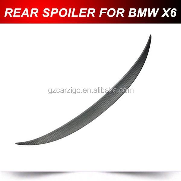 FIT FOR BMW E71 X6 PERFORMANCE STYLE REAL CARBON FIBER TRUNK LIP SPOILER 2008-2013