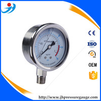 Y50-PT110 black steel case with transparent plastic cover air compressor pressure gauge