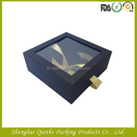 Paper gift storege box with a yellow bow
