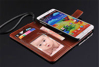 Wallet Strap Stand Holder PU Flip Leather Phone Case for Samsung S7/S7 Edge