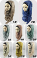 Wholesale 2016 new designs lace cotton scarves muslim hijab shawls QK018