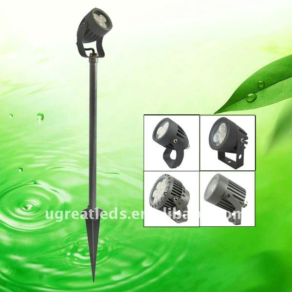 New technology 3w outdoor IP66 led garden spot light with pole