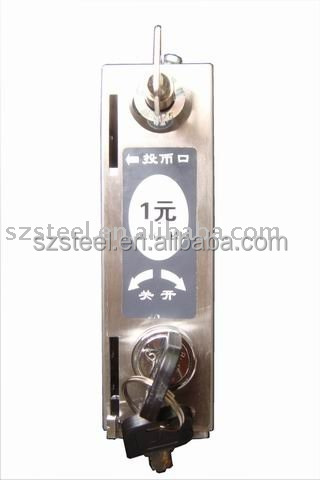 Stainless Steel Coin Lock, Metal Coin Operated Lock for Different Country Coins