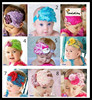 Hot European Girl Hair Flower Ornaments Feather Headband Infant Feather Hair Accessories toddler hairband