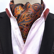 New Men's Floral Silk Cravat Ties Jacquard Woven Ascot