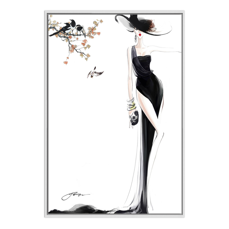 Abstract painting canvas beautiful sexy woman oil painting on canvas