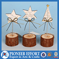 Wooden Star Christmas Name card Holder