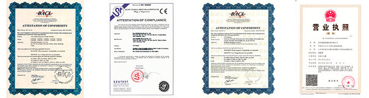 certificate of Cnc 6040 4 Axis