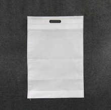 Custom printing cheap used handle non woven rice bags