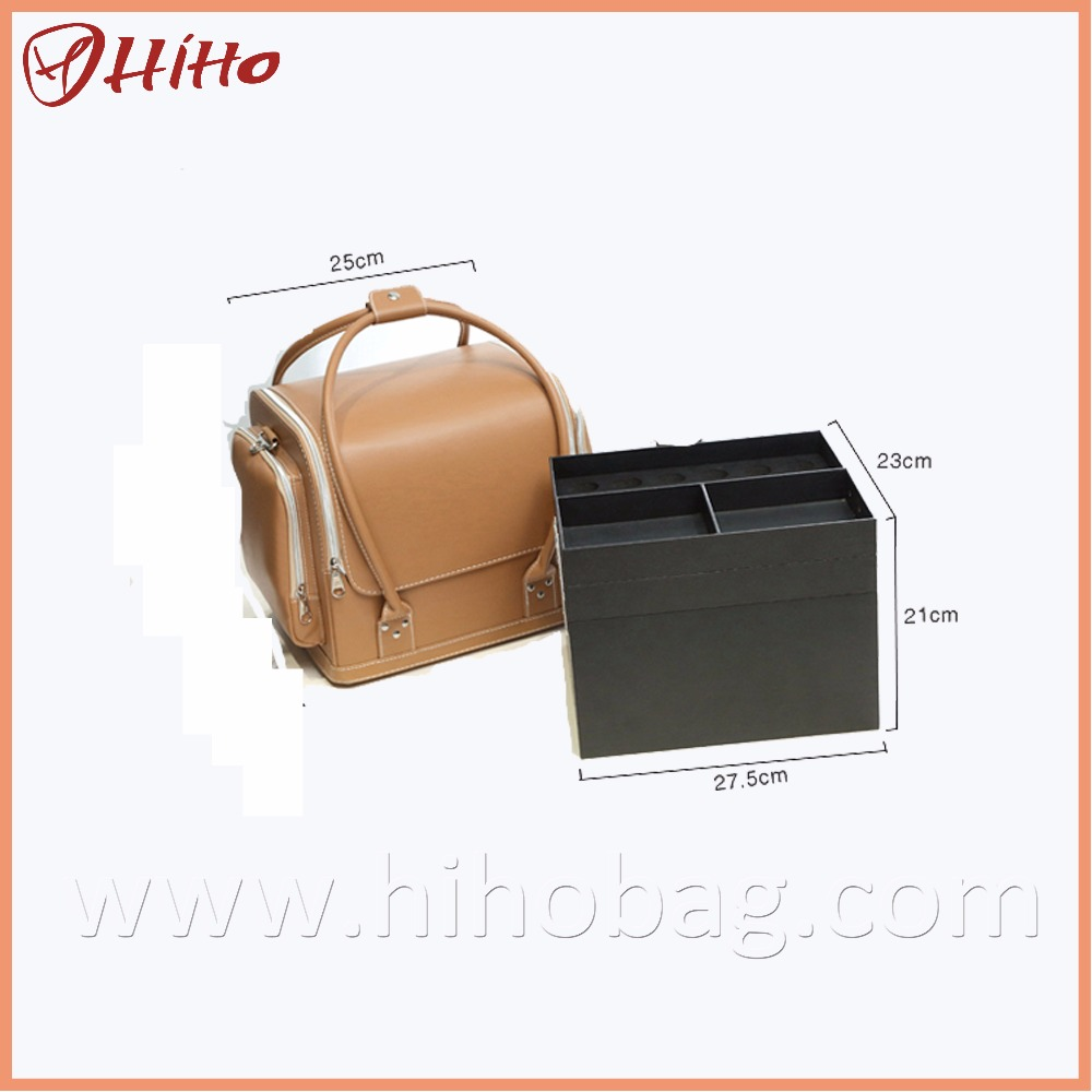 Fashion PU Removable Makeup Case Cosmetic Beauty Case