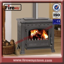 Smokeless cast iron wood burning stove