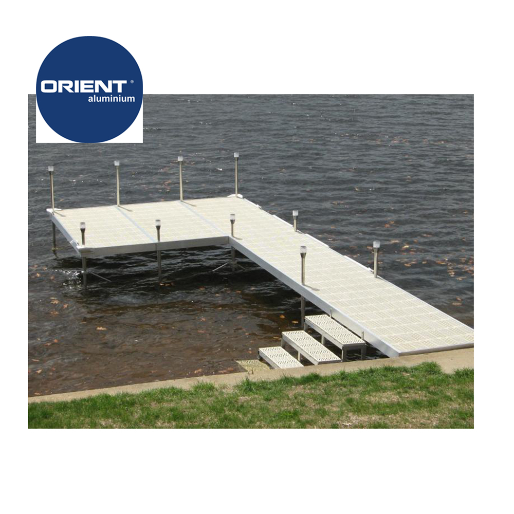 6061T6 Marine Grade Aluminium floating dock decking jet dock cubes for sale
