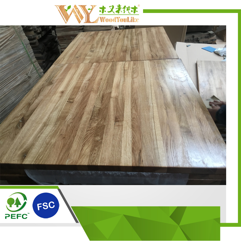 Factory Directly Best Selling Oak Table Tops Solid Wood Worktop for Sale