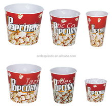 Different size plastic popcorn bucket/bowl/cup for choose