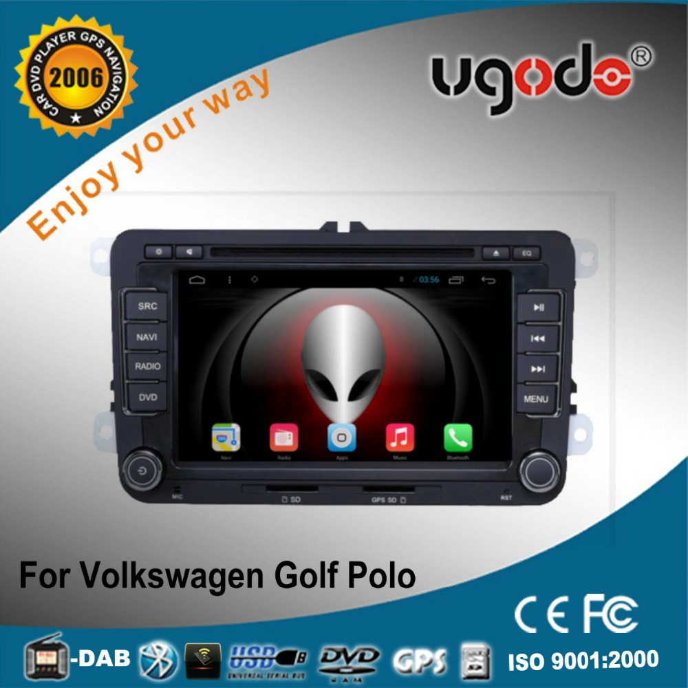 ugode factory price android 7 inch 2 din VW Polo HD touch screen car radio with gps