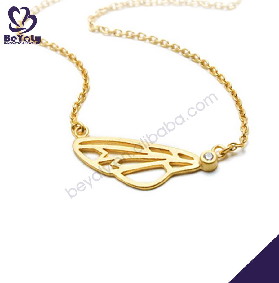 Butterfly different types of gold necklace chains jewelry designs