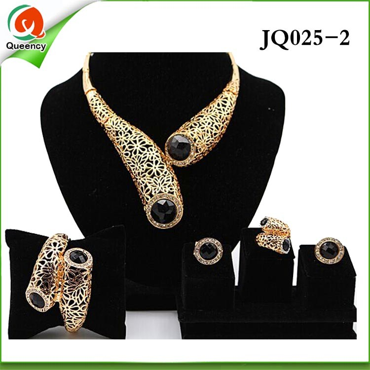 Jq025 4 evening dress 2016 nigeria beads jewelry set for How to match jewelry with prom dress