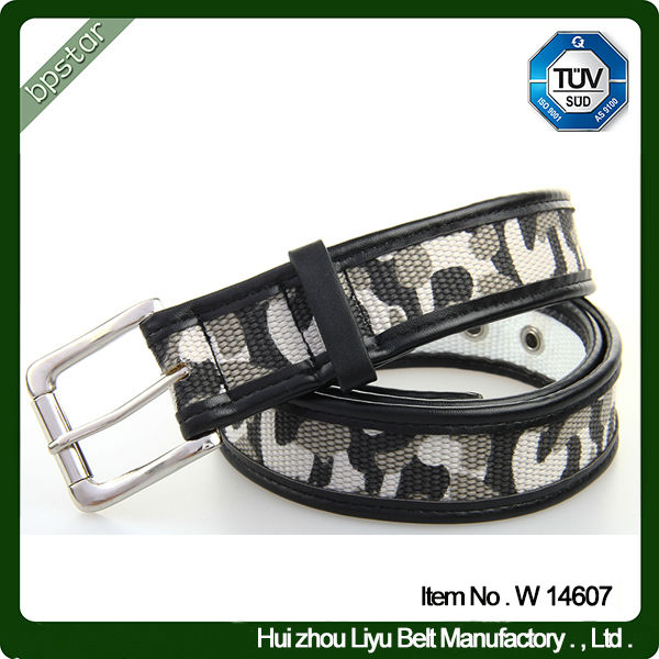 Custom printed web belt military cotton web belts