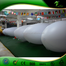 Outdoor Advertising Inflatable Remote Control Blimp / Inflatable Zeppelin Model / Custom Printing White Airship 5M Blimp