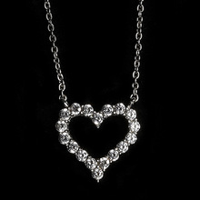 925 silver plain heart pendant jewelry silver heart necklace for girlfriend