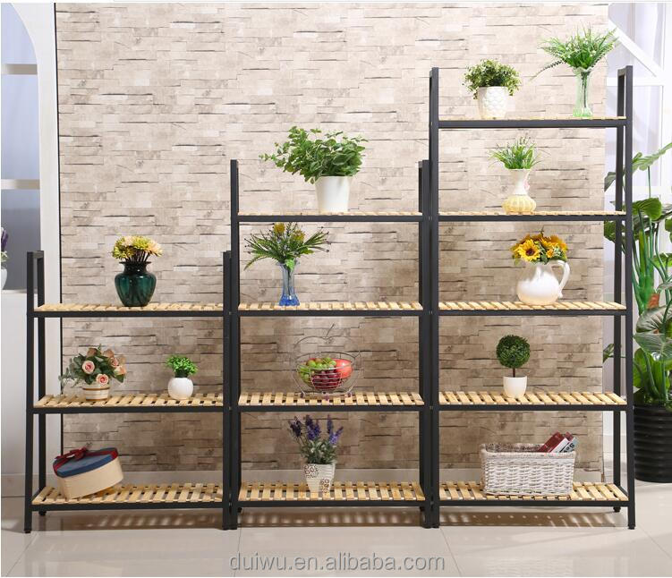 2017 Foshan customized OEM black metal wire shelf display racks for sale